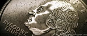 close up of quarter
