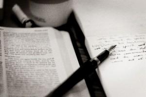Bible notebook pen