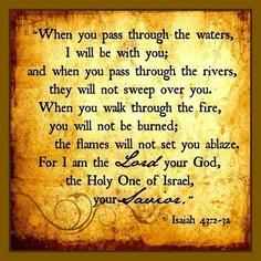 Isaiah 43.2-3