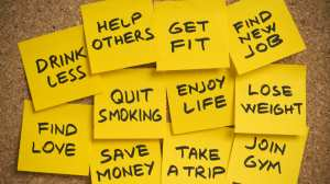 New Years post-it notes