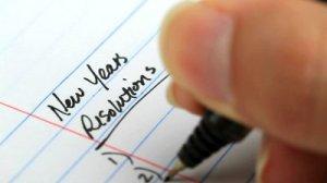 New Years Resolutions hand-written