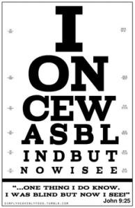 John 9.25 vision chart