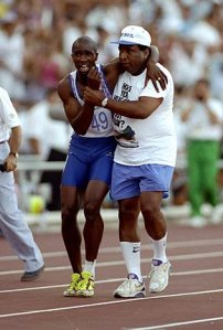 Derek Redmond and father