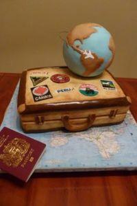 globe suitcase