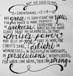 2 Cor 12 9-10