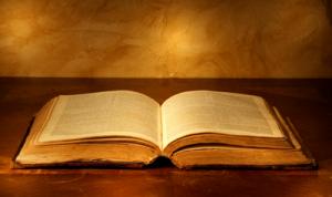 sepia tone Bible