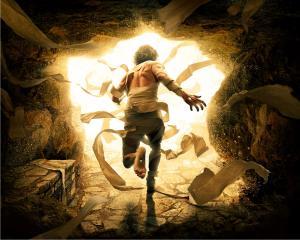 Jesus leaving tomb