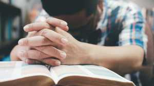 Prayer Hands Bible